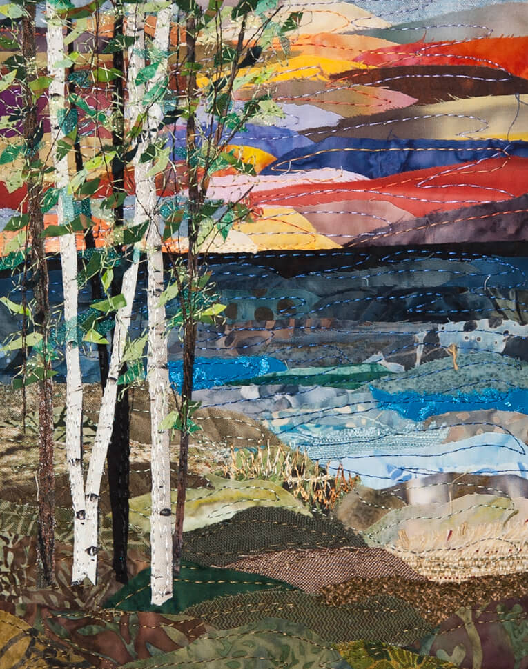 Collage quilts by ann loveless