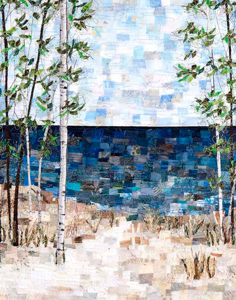 Large Mosaic art quilts by ann loveless